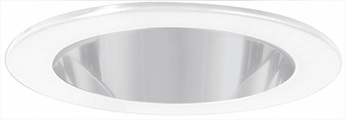 Elco EL9111W Contemporary White Medium Base 4 Down Lighting Shower with Clear Lens and Reflector Mini Trim