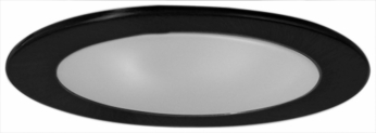 Elco EL9112B Modern Black Medium Base 4 Recessed Light Shower with Frosted Lens and Reflector Mini Trim