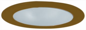 Elco EL9112BZ Contemporary Bronze Medium Base 4 Recessed Lighting Shower with Frosted Lens and Reflector Mini Trim