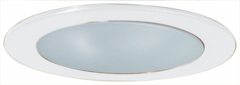Elco EL9112W Contemporary White Medium Base 4 Recessed Lighting Shower with Frosted Lens and Reflector Mini Trim