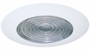 Elco EL9113W Contemporary White Medium Base 4 Down Lighting Shower with Fresnel Lens and Reflector Mini Trim
