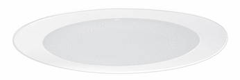 Elco EL9114W Contemporary White Medium Base 4 Recessed Lighting Shower with Albalite Lens and Reflector Mini Trim