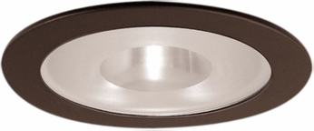Elco EL9115BZ Contemporary Bronze Medium Base 4 Down Lighting Shower with Frosted Pinhole Glass and Reflector Mini Trim