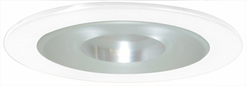 Elco EL9115W Contemporary White Medium Base 4 Recessed Lighting Shower with Frosted Pinhole Glass and Reflector Mini Trim