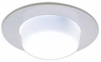 Elco EL9116C Contemporary Clear Medium Base 4 Recessed Lighting Shower with Drop Opal Lens and Reflector Mini Trim