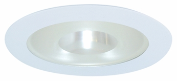 Elco EL915W Contemporary White Medium Base 4 Down Lighting Shower with Frosted Pinhole Glass Mini Trim