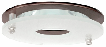 Elco EL926BZ Contemporary Bronze Medium Base 4 Recessed Lighting Reflector with Suspended Frosted Glass Mini Trim