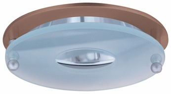 Elco EL926CP Modern Copper Medium Base 4 Recessed Lighting Reflector with Suspended Frosted Glass Mini Trim