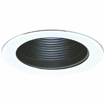 Elco EL993B Contemporary Black with White Medium Base 4  Recessed Lighting Phelonic Baffle Mini Trim