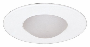 Elco EL996W Contemporary White Medium Base 4 Down Lighting Shower with Drop Frosted Lens Mini Trim