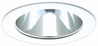 Elco EL999DC Contemporary Clear with White Medium Base 4 Down Lighting Reflector with Diecast Ring Mini Trim