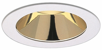 Elco EL999KG Contemporary Gold with White Medium Base 4 Recessed Lighting Reflector Mini Trim (with Bracket)