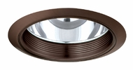 Elco ELA101BZ Modern Bronze Medium Base 6  Recessed Light Reflector with Baffle Trim