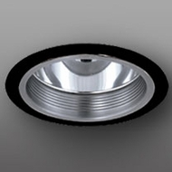 Elco ELA101NB Contemporary Nickel with Black Medium Base 6  Recessed Light Reflector with Baffle Trim