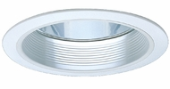 Elco ELA101W Contemporary White Medium Base 6  Recessed Lighting Airtight Reflector with Baffle Trim