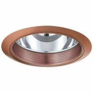 Elco ELA102CP Contemporary Copper Medium Base 6  Recessed Light Reflector with Baffle Trim