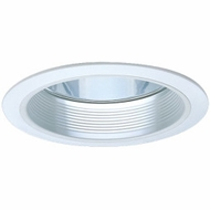 Elco ELA102W Modern White Medium Base 6  Recessed Lighting Reflector with Baffle Trim