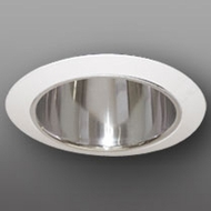 Elco ELA5099C Modern Clear with White Medium Base 5 Recessed Light Specular Reflector with Socket Bracket Trim