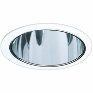Elco ELA599SC Contemporary Clear with White Medium Base 5  Recessed Lighting Specular Reflector Trim