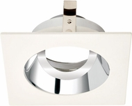 Elco ELK3329C Koto System Pex 3� LED Contemporary Chrome with White Ring 3 Square Adjustable Gimbal