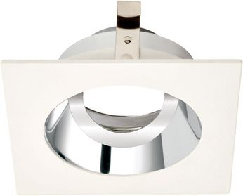 Elco ELK3329C Koto System Pex LED Contemporary Chrome with White Ring 3 Square Adjustable Gimbal
