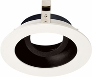 Elco ELK3629B Koto System Pex 3� LED Contemporary Black with White Ring 3 Round Adjustable Gimbal