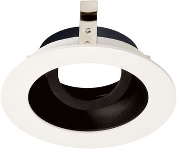 Elco ELK3629B Koto System Pex LED Contemporary Black with White Ring 3  Round Adjustable Gimbal