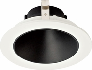 Elco ELK4118B Koto System Pex 4� LED Contemporary Black with White Ring 4  Round Deep Reflector