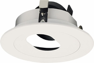 Elco ELK4120W Koto System Pex 4� LED Modern Black Slot with White Ring 4  Round Rotatable Slot Aperture Recessed Lighting Trim