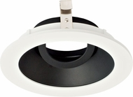 Elco ELK4129B Koto System Pex 4� LED Contemporary Black with White Ring 4  Round Adjustable Gimbal