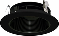 Elco ELK4193BB Koto System Pex 4� LED Contemporary All Black 4  Round Adjustable Phenolic Baffle