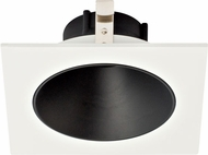 Elco ELK4218B Koto System Pex 4� LED Contemporary Black with White Ring 4  Square Deep Reflector
