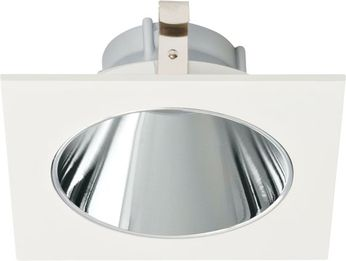 Elco ELK4218C Koto System Pex LED Modern Chrome with White Ring 4 Square Deep Reflector
