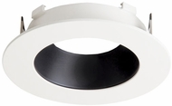 Elco ELL4621BW E.L.L. System Flexa Contemporary Black with White 4? Round Reflector Recessed Lighting Trim