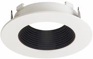 Elco ELL4623BW E.L.L. System Flexa Modern Black with White 4? Round Baffle Recessed Lighting Trim
