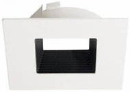 Elco ELL4643BW E.L.L. System Flexa Modern Black with White 4? Square Baffle Recessed Lighting Trim