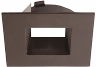 Elco ELL4643BZBZ E.L.L. Flexa Contemporary Bronze 4  Square Baffle Trim
