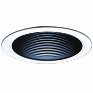 Elco ELM300B Modern Black Medium Base 6  Recessed Light Self-flanged Airtight Cone Metal Baffle Trim