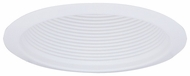Elco ELM300W Contemporary White Medium Base 6  Recessed Lighting Self-flanged Airtight Cone Metal Baffle Trim