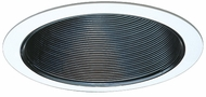 Elco ELM302B Modern Black Medium Base 6  Recessed Lighting Airtight Cone Metal Baffle Trim