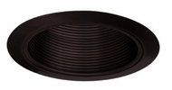 Elco ELM30BB Modern Black with Black Medium Base 6  Down Lighting Metal Baffle Trim