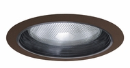 Elco ELM30BBZ Modern Black with Bronze Medium Base 6  Recessed Lighting Metal Baffle Trim
