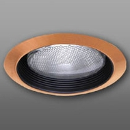 Elco ELM30BCP Contemporary Black with Copper Medium Base 6  Recessed Light Metal Baffle Trim