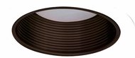 Elco ELM30BZW Contemporary Bronze with White Medium Base 6  Recessed Lighting Metal Baffle Trim