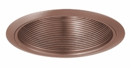 Elco ELM30CP Contemporary Copper Medium Base 6  Down Lighting Metal Baffle Trim