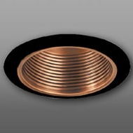 Elco ELM30CPB Modern Copper with Black Medium Base 6  Recessed Lighting Metal Baffle Trim