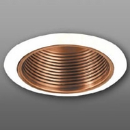 Elco ELM30CPW Contemporary Copper with White Medium Base 6  Recessed Light Metal Baffle Trim
