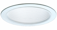 Elco ELM30W Contemporary White Medium Base 6  Recessed Lighting Metal Baffle Trim