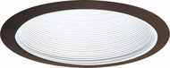 Elco ELM30WBZ Modern White with Bronze Medium Base 6  Recessed Light Metal Baffle Trim
