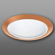 Elco ELM30WCP Modern White with Copper Medium Base 6  Down Lighting Metal Baffle Trim